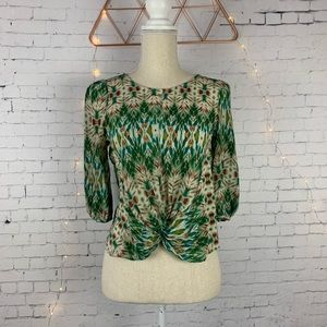 Aryn K Silk Blouse